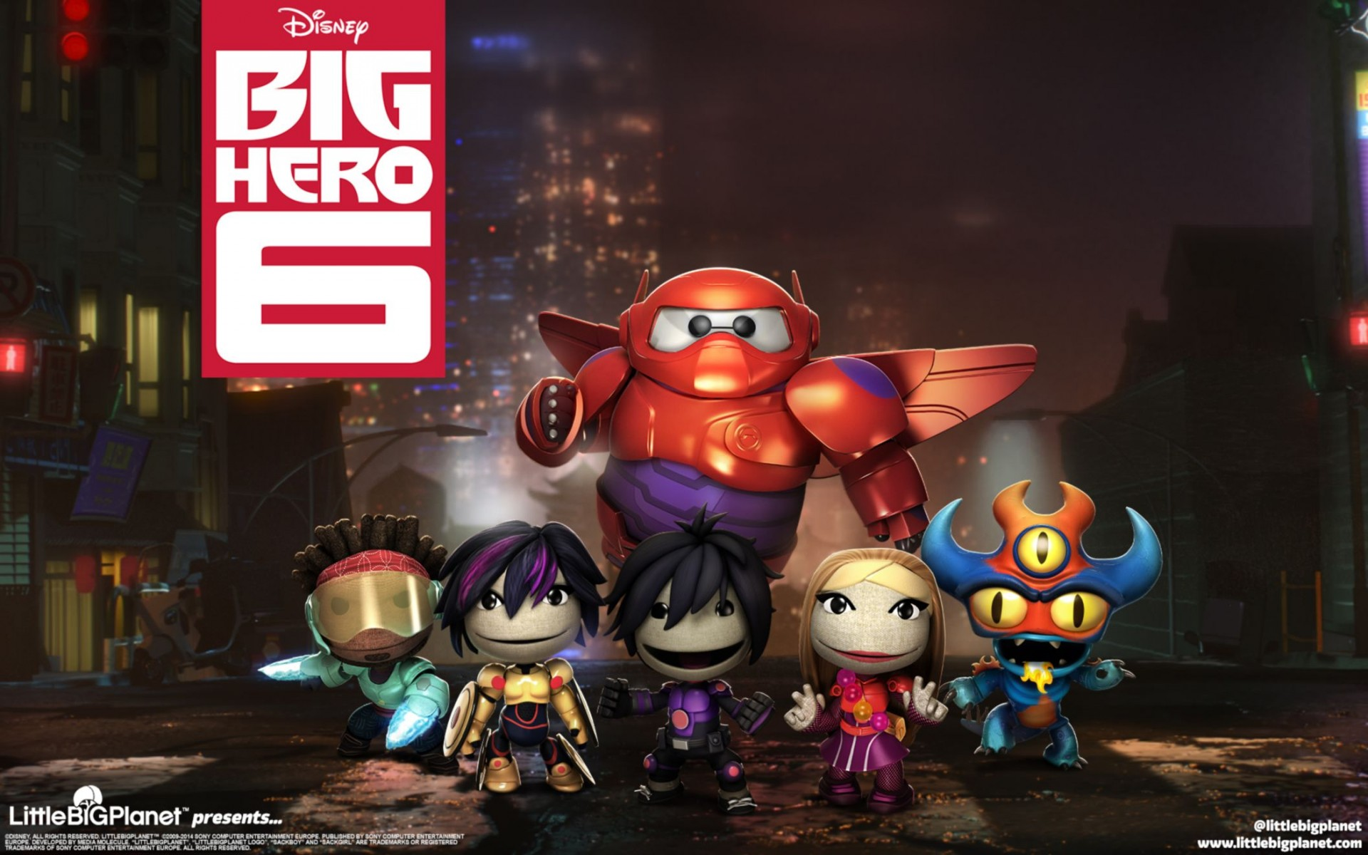 Littlebigplanet Big Hero 6 Wide Wallpaper