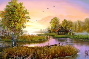 Lovely Nature Art Wallpaper