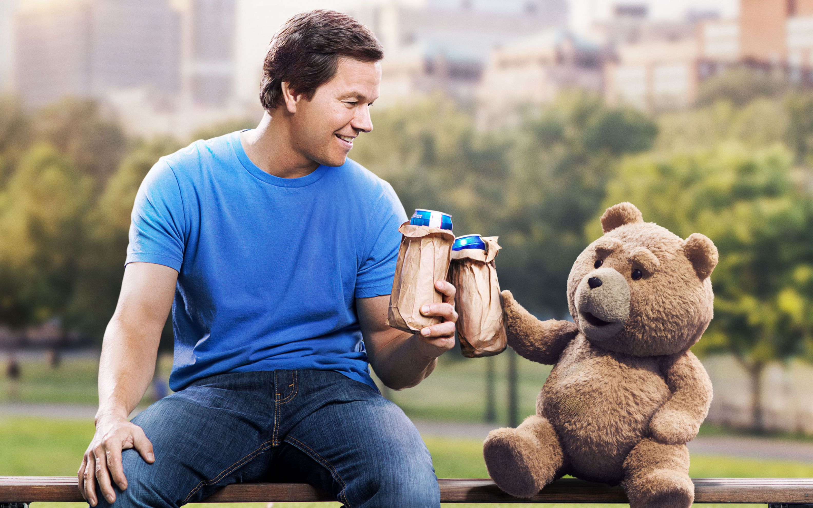 Download free HD Mark Wahlberg Ted 2 Wide Wallpaper, image