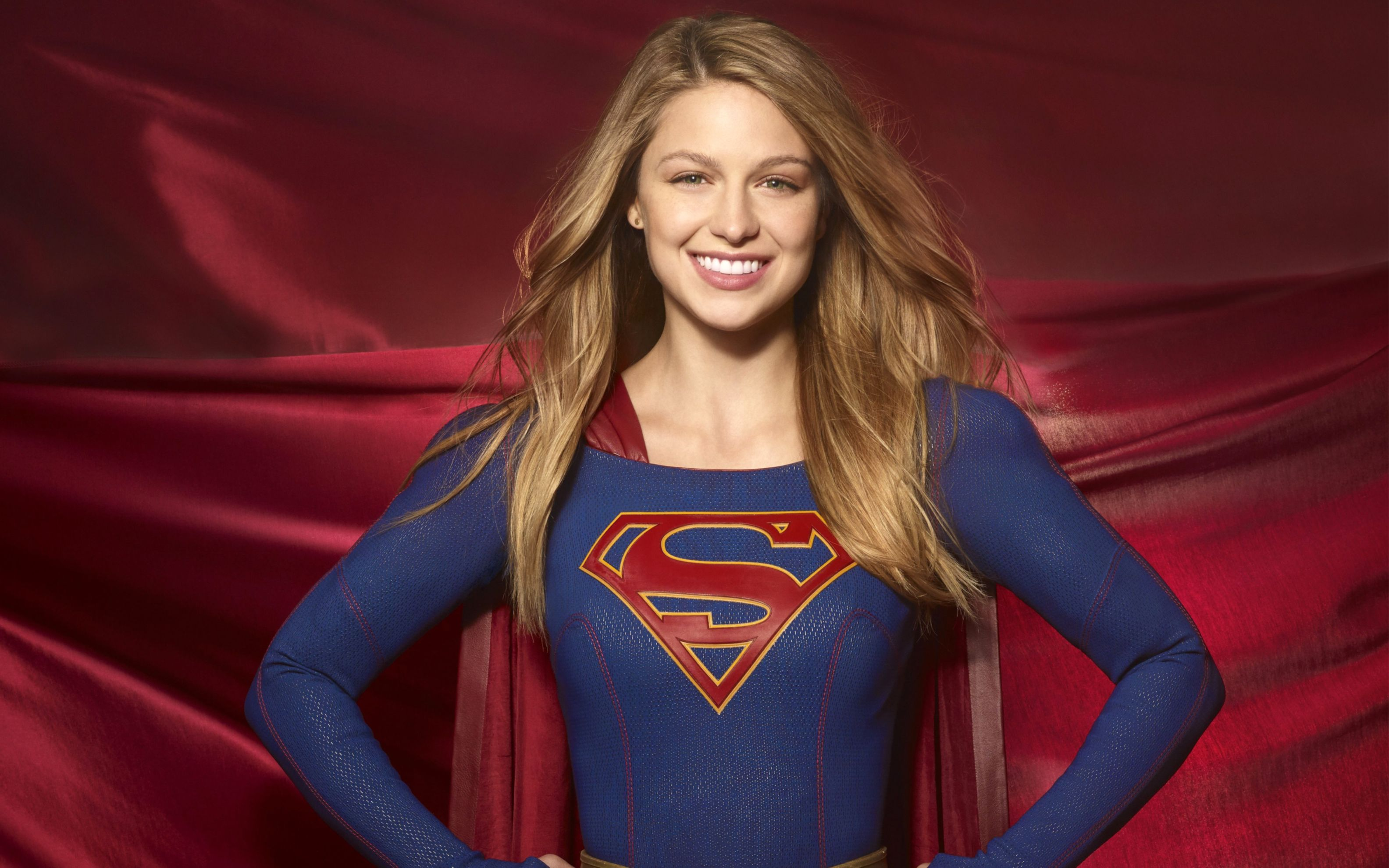 Download free HD Melissa Benoist Supergirl Season 2 Wide Wallpaper, image