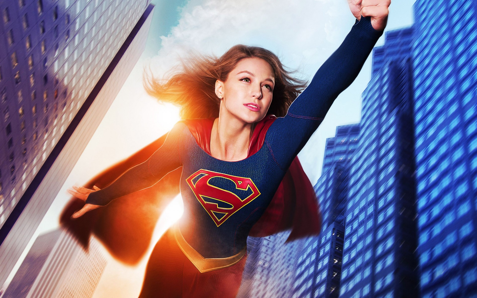 Melissa Benoist Supergirl Wide Wallpaper