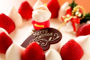 Download Merry Christmas Strawberry Dessert Wide Wallpaper Free Wallpaper on dailyhdwallpaper.com