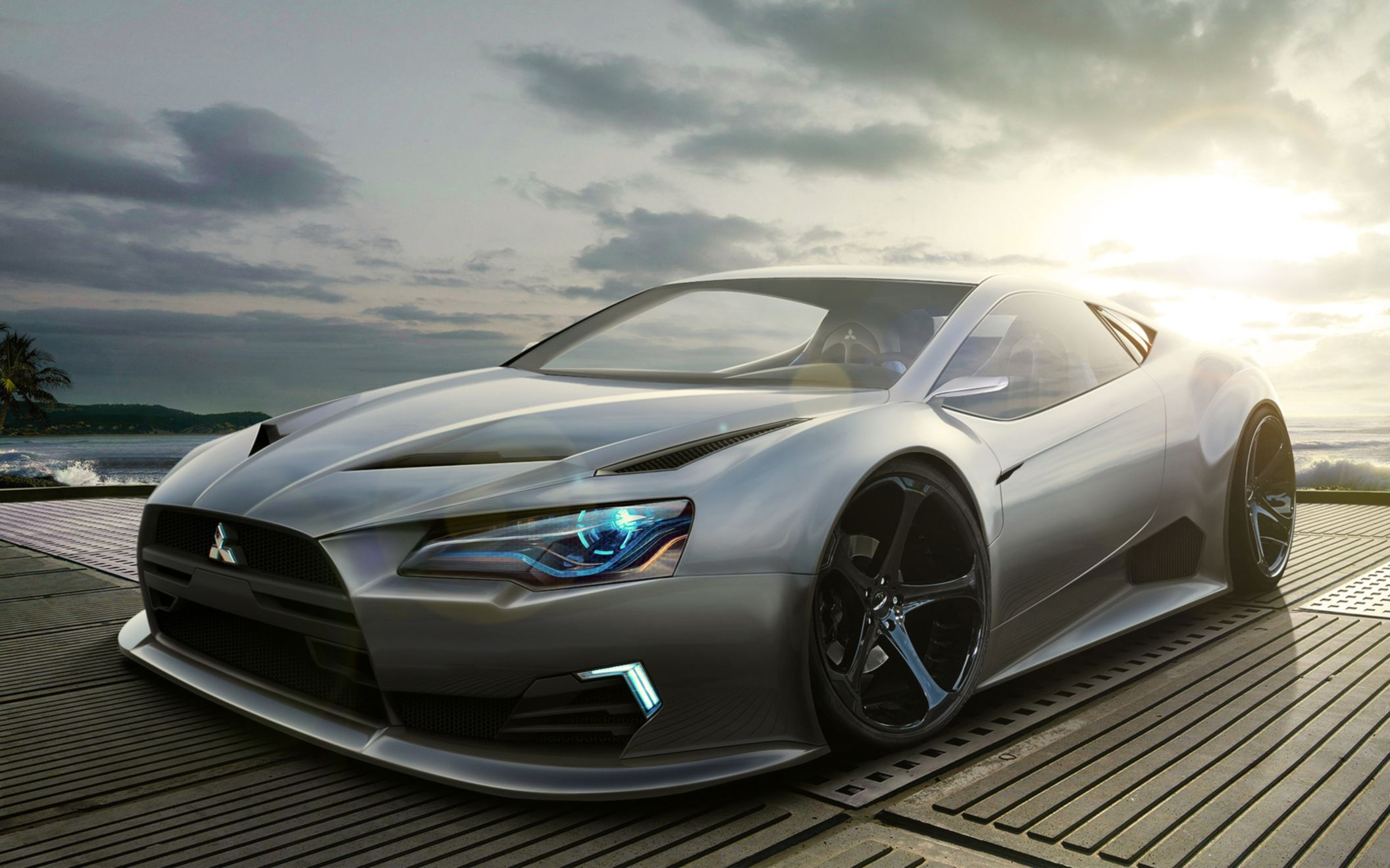 Download free HD Mitsubishi Concept Wide Wallpaper, image