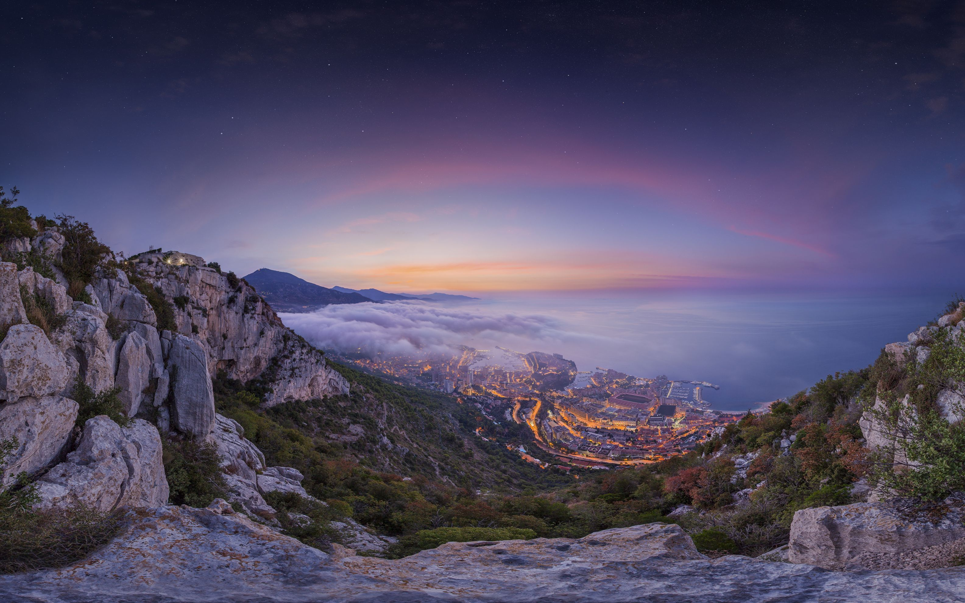 Download free HD Monaco Summer Sunrise Wide Wallpaper, image