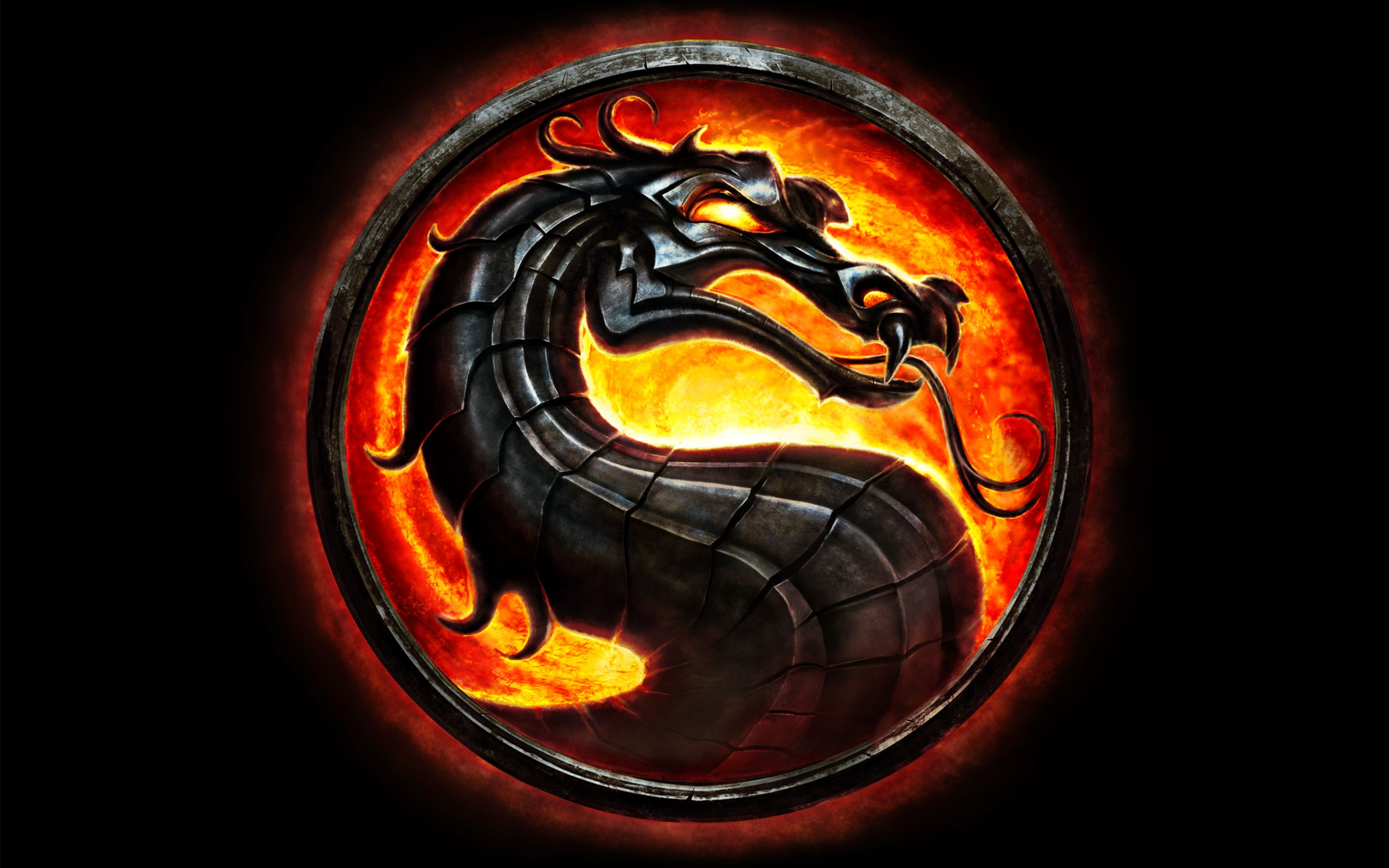 Download free HD Mortal Kombat Dragon Wide Wallpaper, image