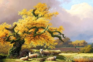 Nature Scene Art Cool Animals Painting Wallpaper