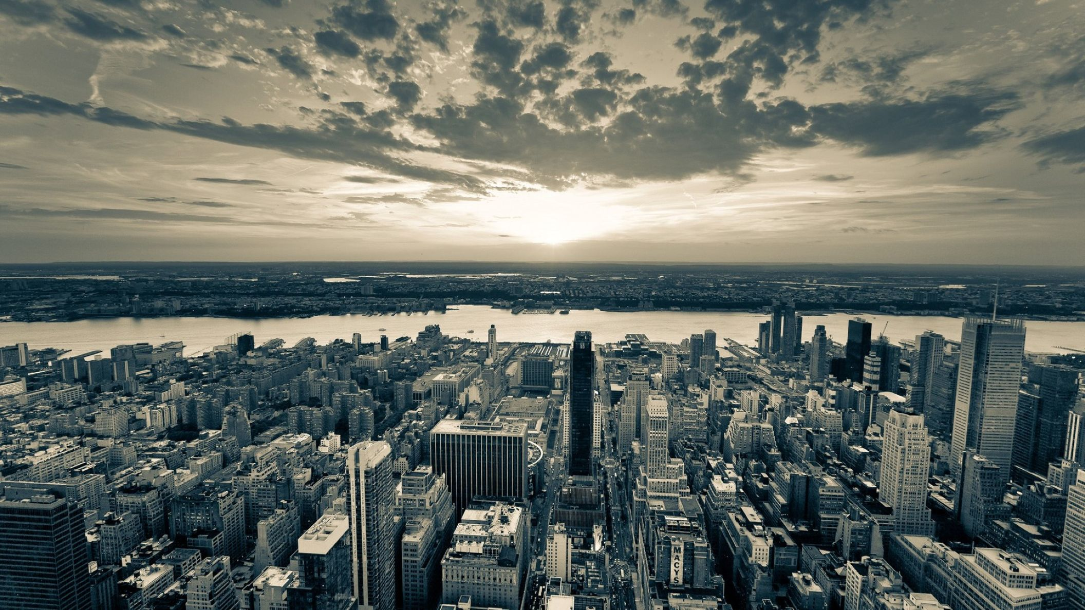 New York City HD Black And White Wallpaper