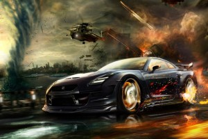 Download Nisaan Gtr Race HD Wallpaper Free Wallpaper on dailyhdwallpaper.com