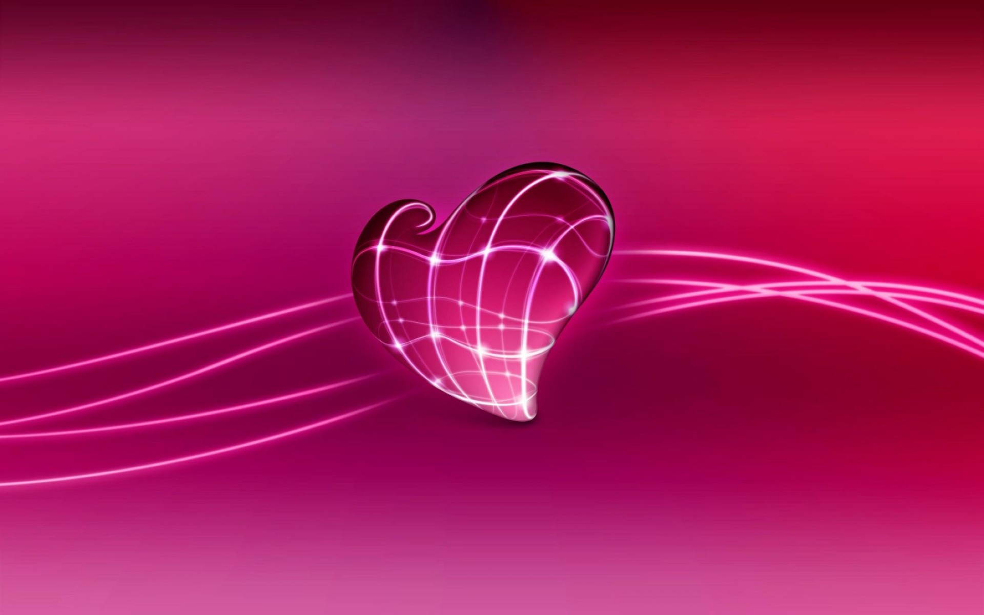Pink 3D Background Love Wallpaper