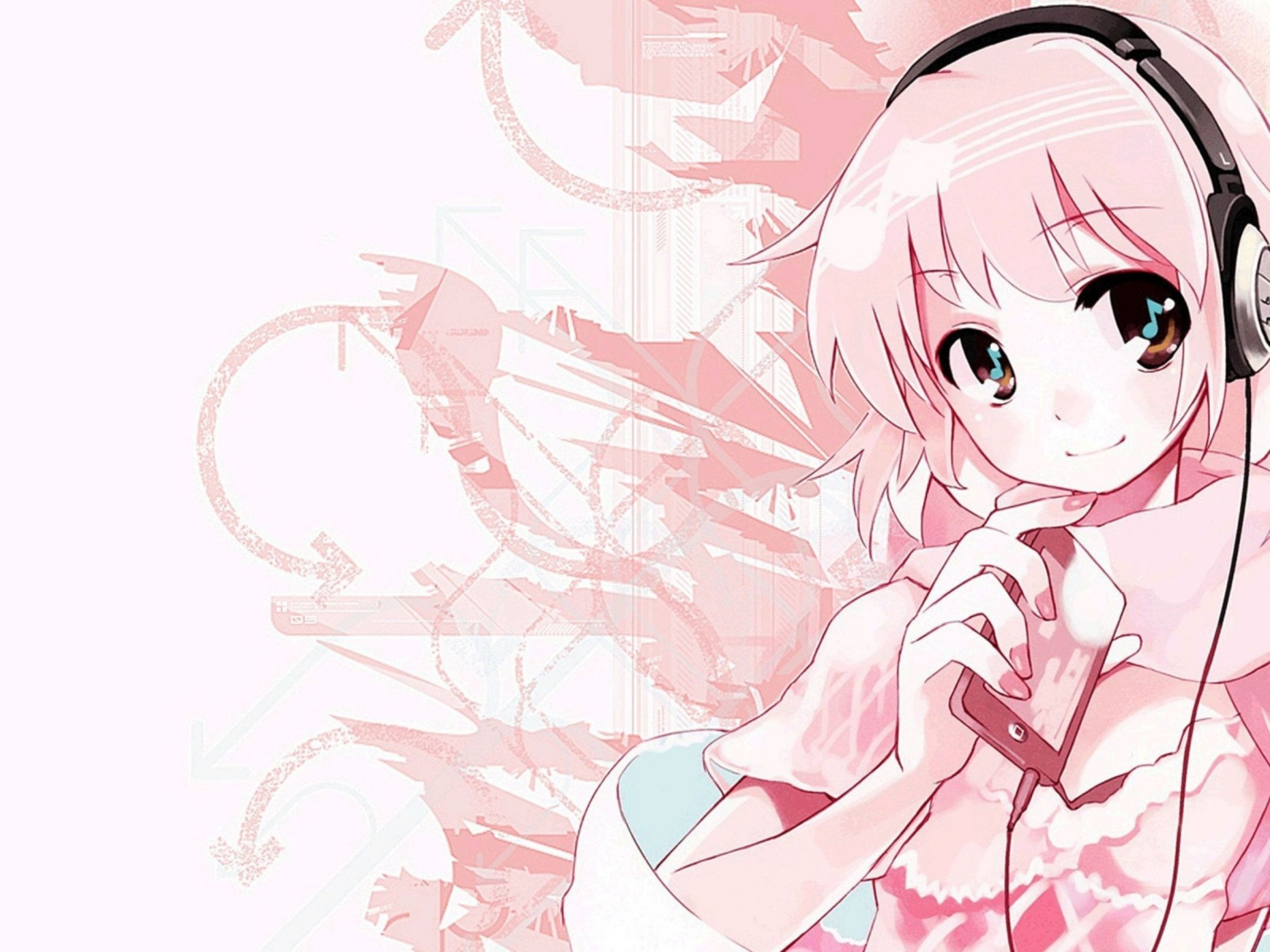 Pink Anime Music Wallpaper Desktop Hd Wallpaper Download Free Image Picture Photo On Dailyhdwallpaper Com 3512
