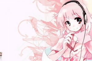 Download Pink Anime Music Wallpaper Free Wallpaper on dailyhdwallpaper.com