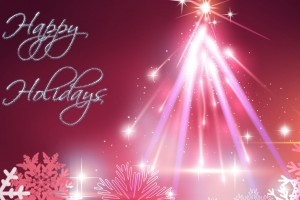 Pink Christmas Tree Happy Holiday Wallpaper