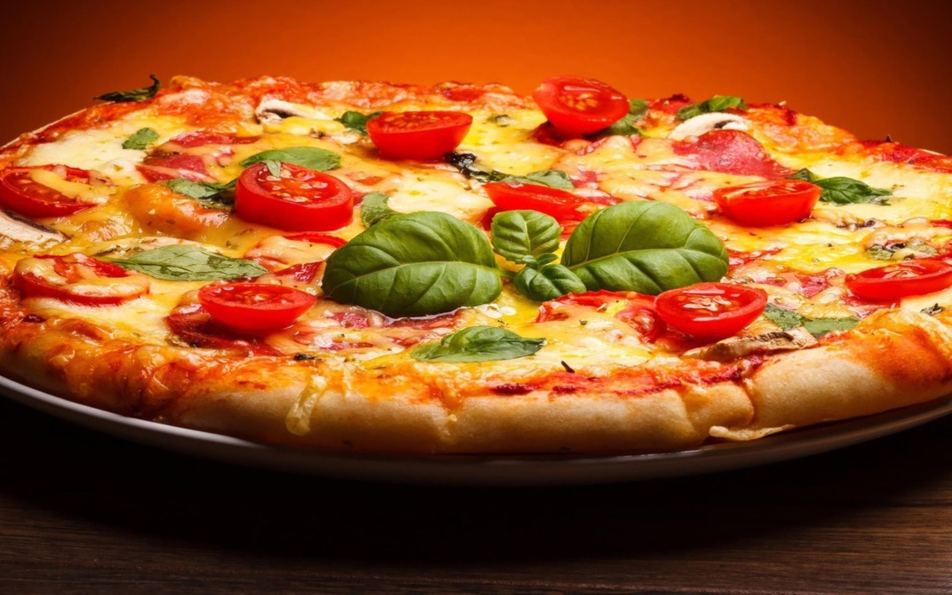 Pizza Food Delicious Photo Wallpaper