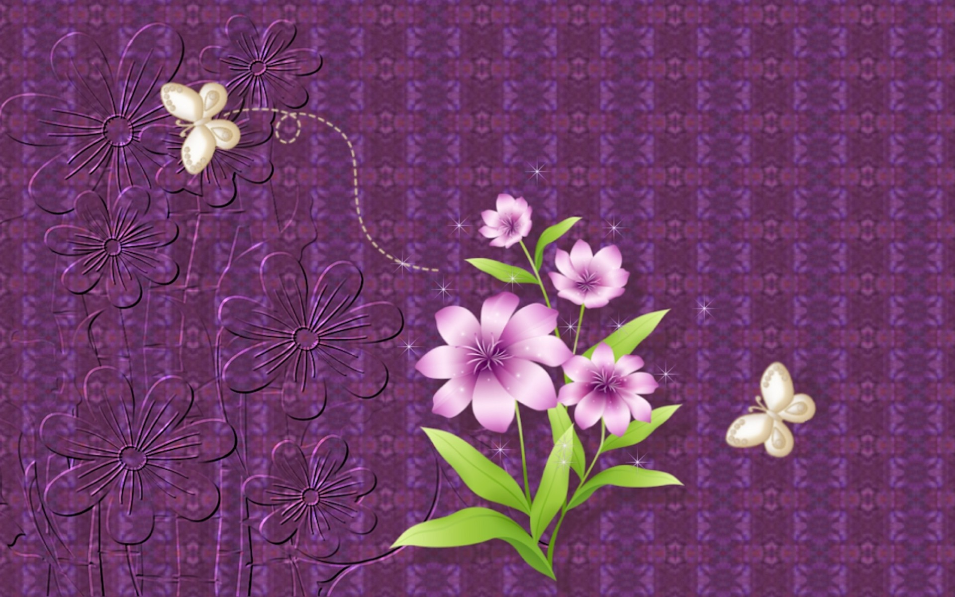 Playing With Purple Abstract Wallpaper