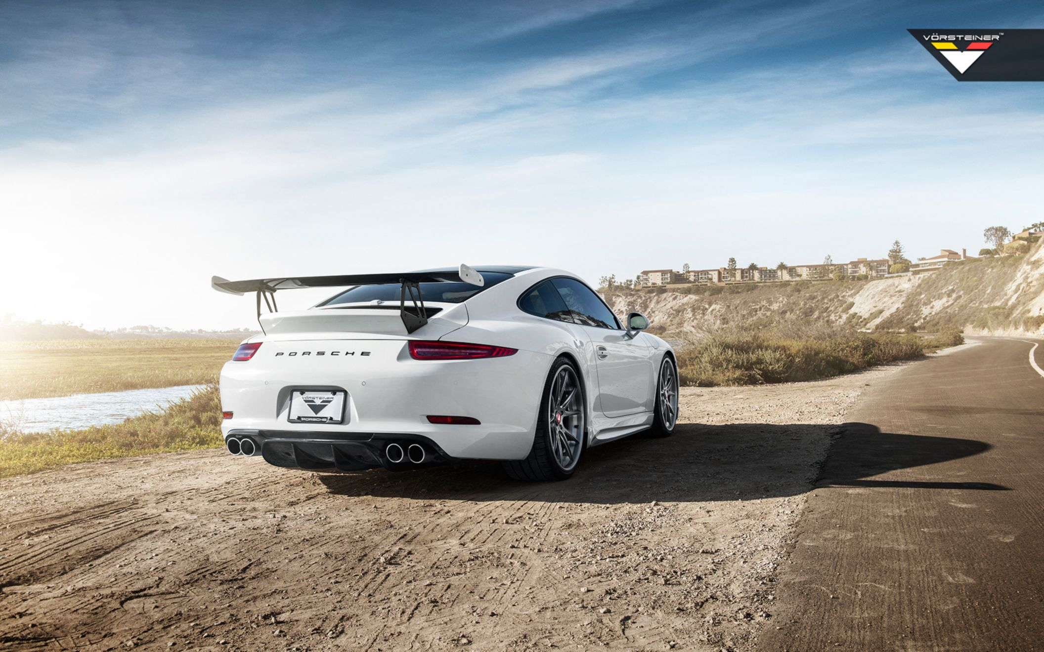 Download free HD Porsche 991 Carrera S Vorsteiner V GT Aero Program Wide Wallpaper, image