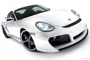 Porsche Cayman TechaRT Wide Wallpaper
