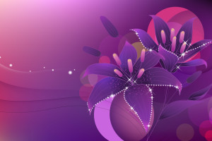 Purple Abstract Flower Art  Wallpaper
