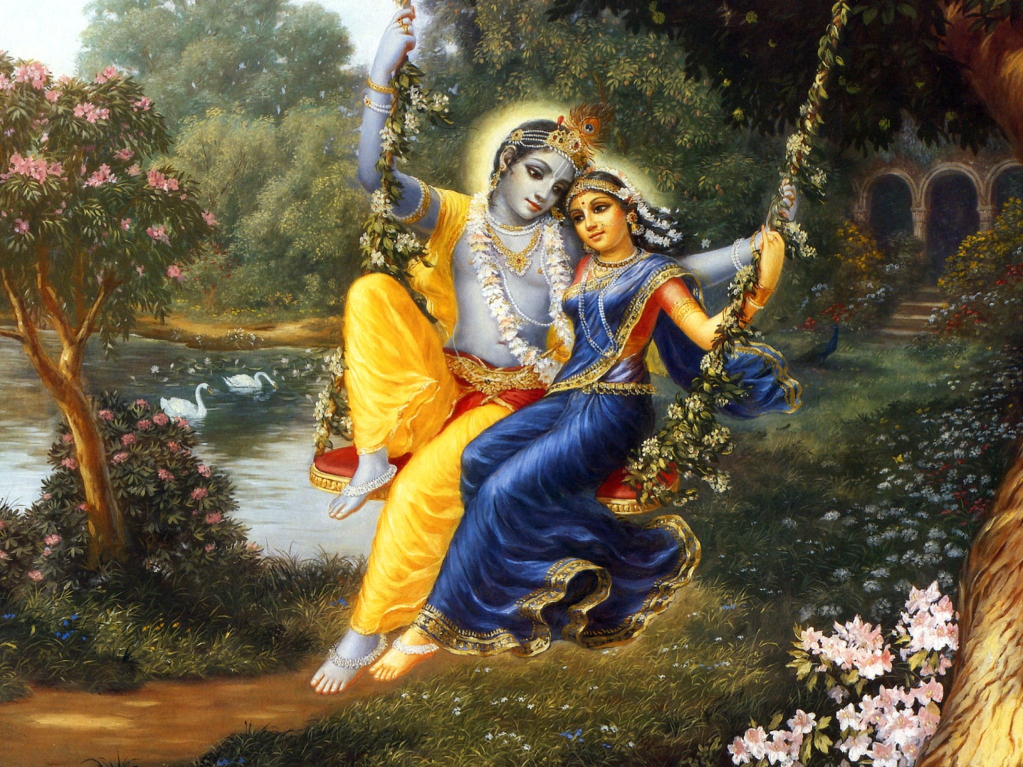 radha krishna wallpaper: desktop hd wallpaper - download free image