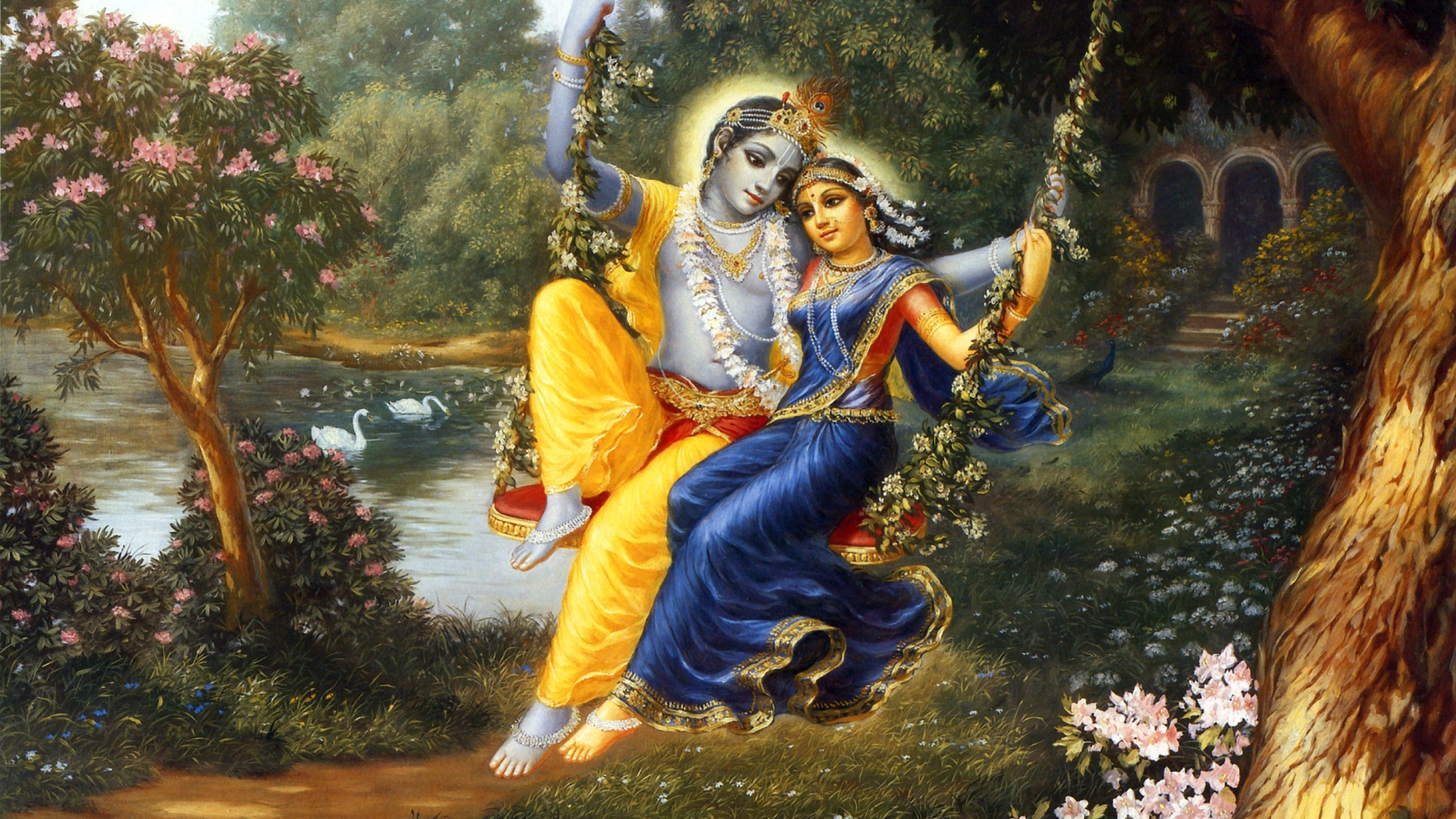 Hd wallpaper krishna and radha - Radha Krishna Wallpaper
