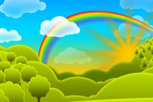 Rainbow Full HD Cartoon Free  Wallpaper