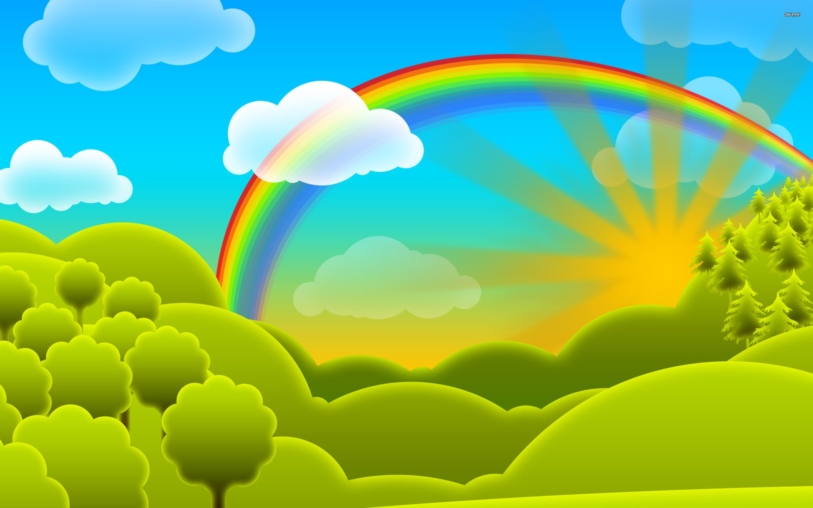 Download free HD Rainbow Full HD Cartoon Free  Wallpaper, image