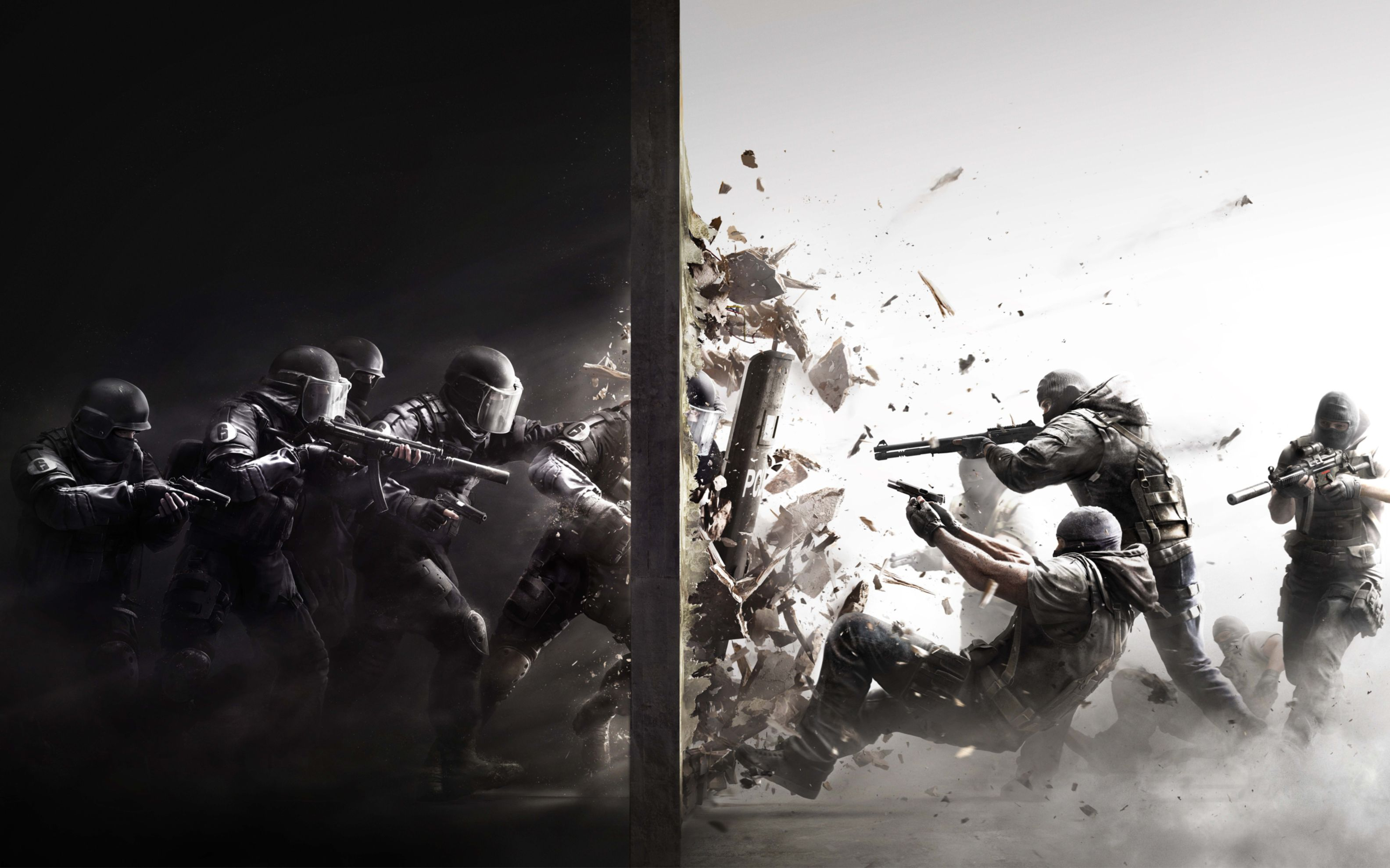 Download free HD Rainbow Six Siege 2015 Game Wide Wallpaper, image