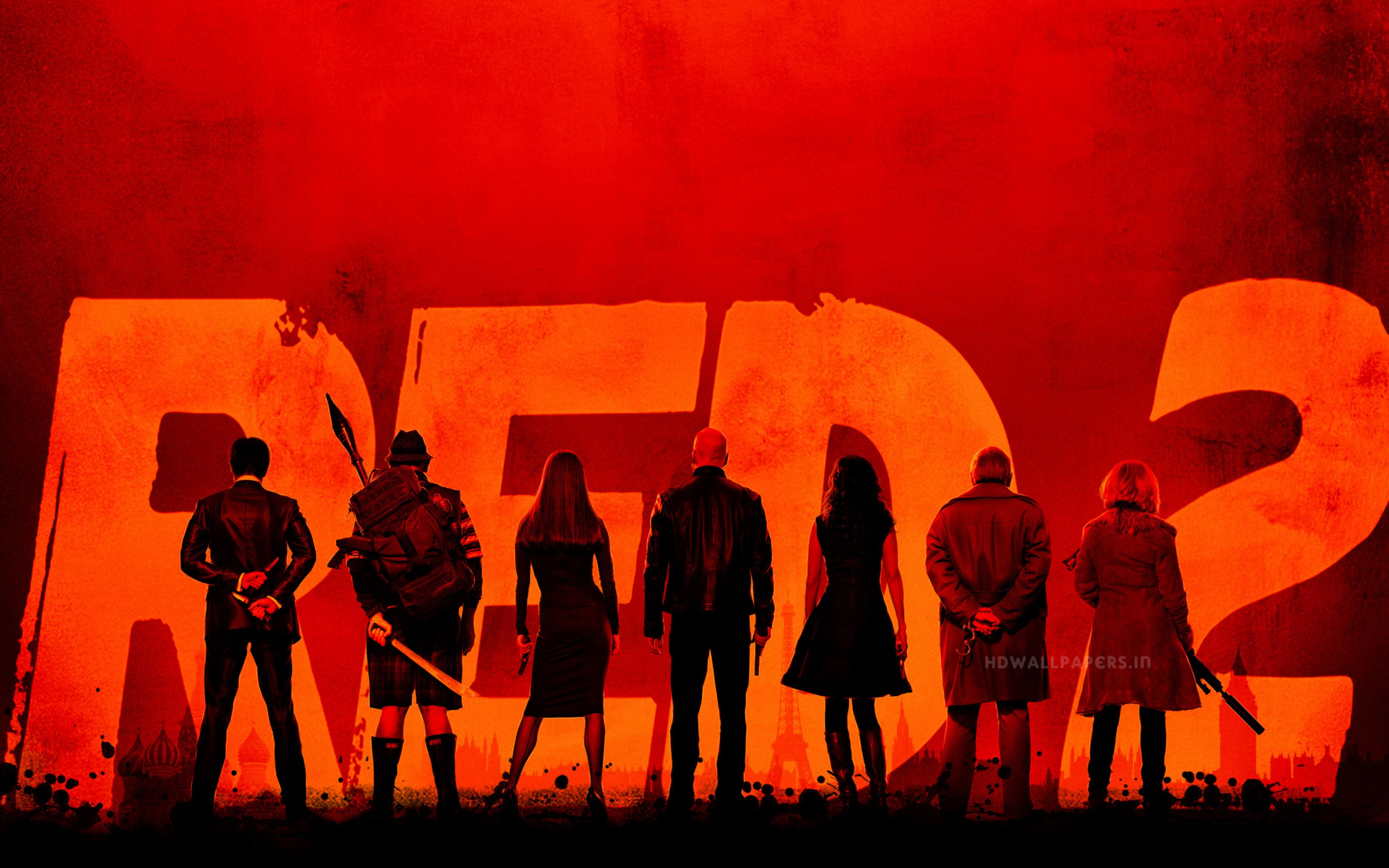 Download free HD Red 2 Movie Wide Wallpaper, image
