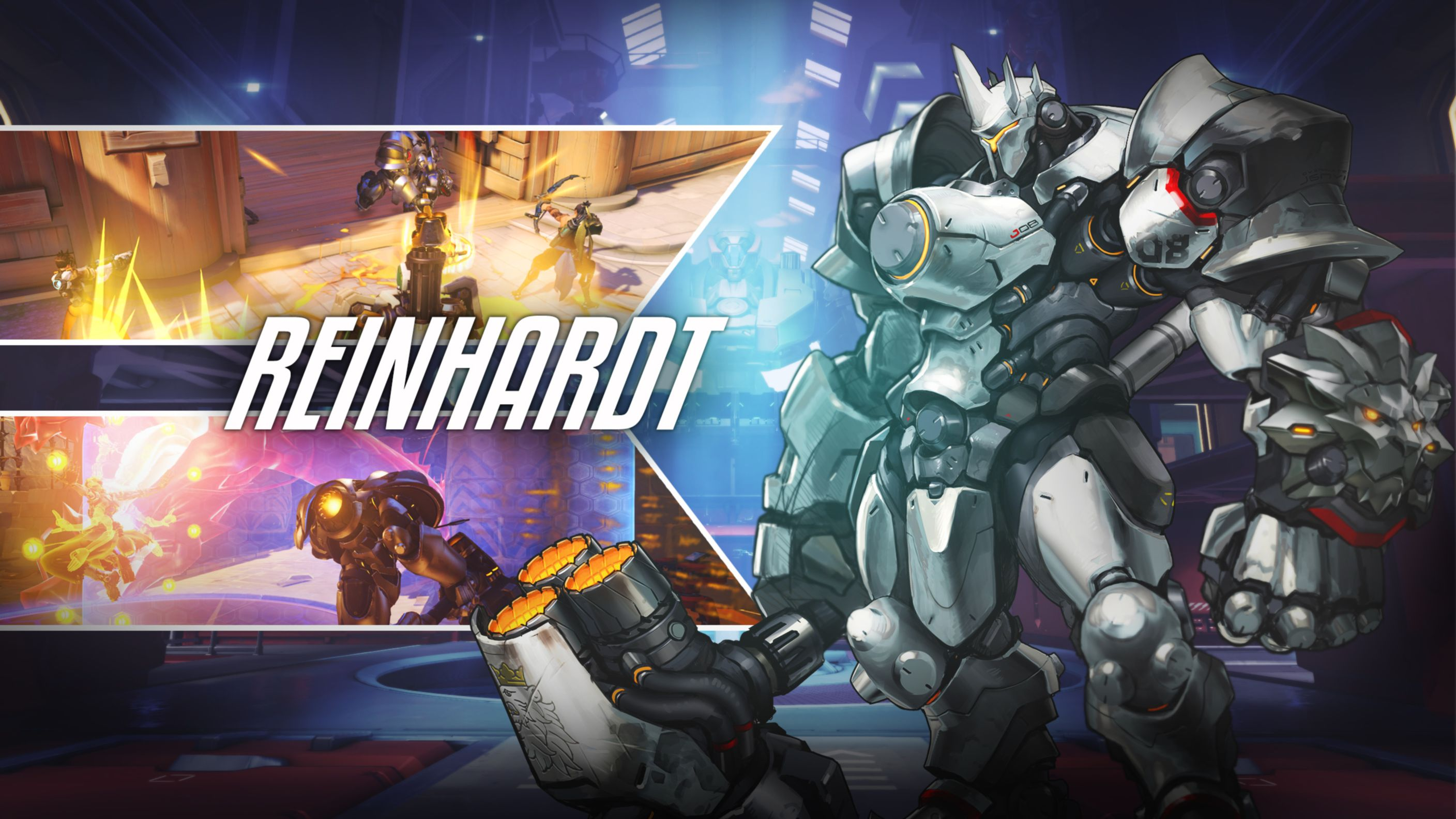 Download free HD Reinhardt Overwatch HD Wallpaper, image