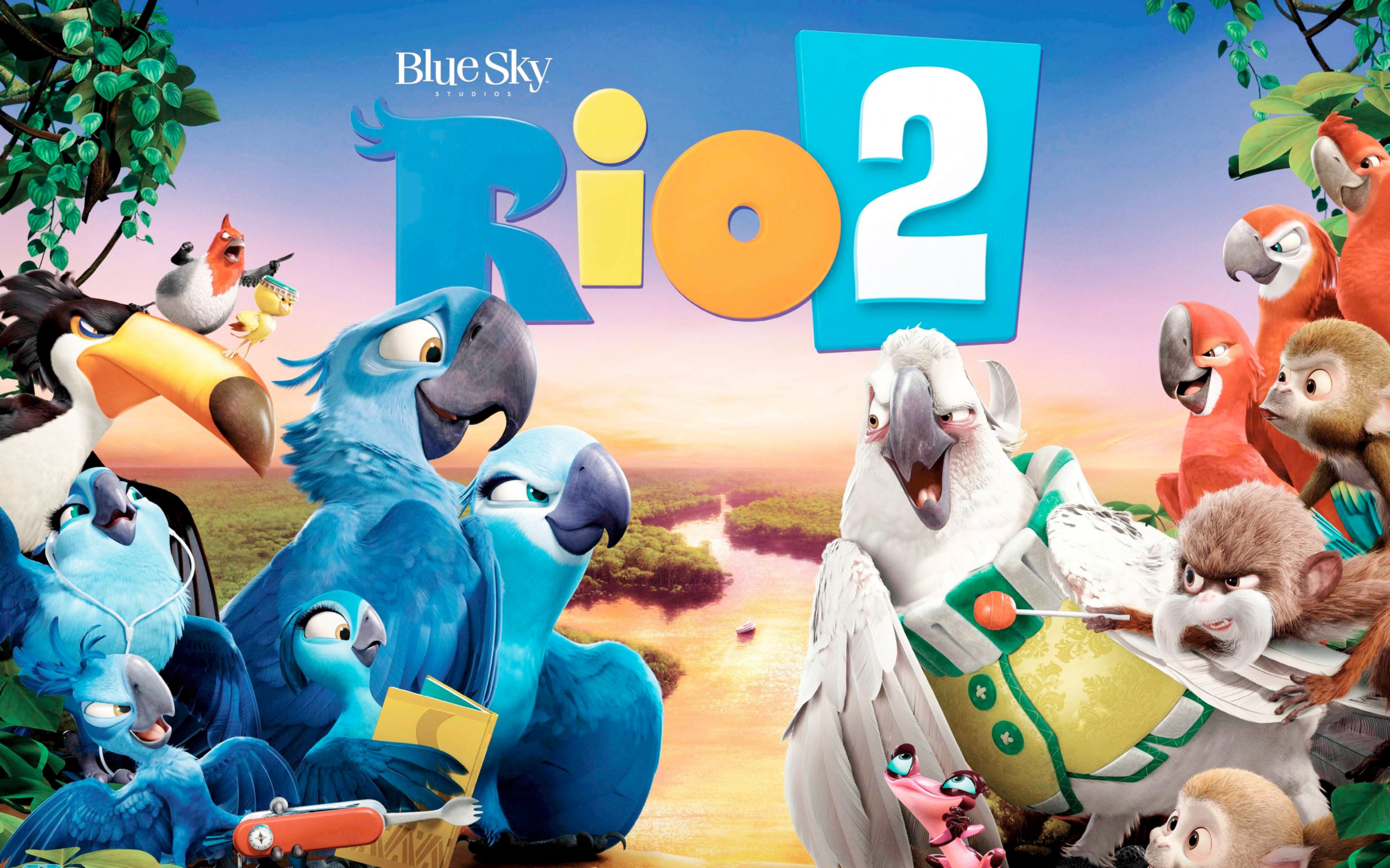Download free HD Rio 2 Movie Banner Wide Wallpaper, image