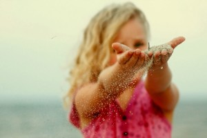 Sand Little Girl Wallpaper