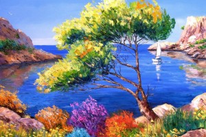 Download Sea Art Paint Wallpaper Free Wallpaper on dailyhdwallpaper.com