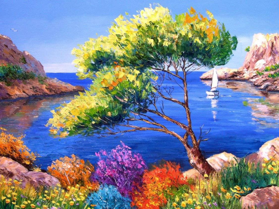 Download free HD Sea Art Paint Wallpaper, image
