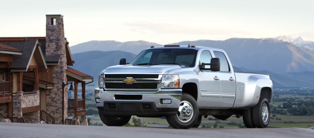 Download free HD Silver Pickup Trucks Chevy 2013 Wallpaper, image