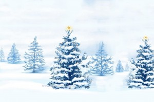 Download Snowy Winter Christmas Tree Wallpaper Free Wallpaper on dailyhdwallpaper.com