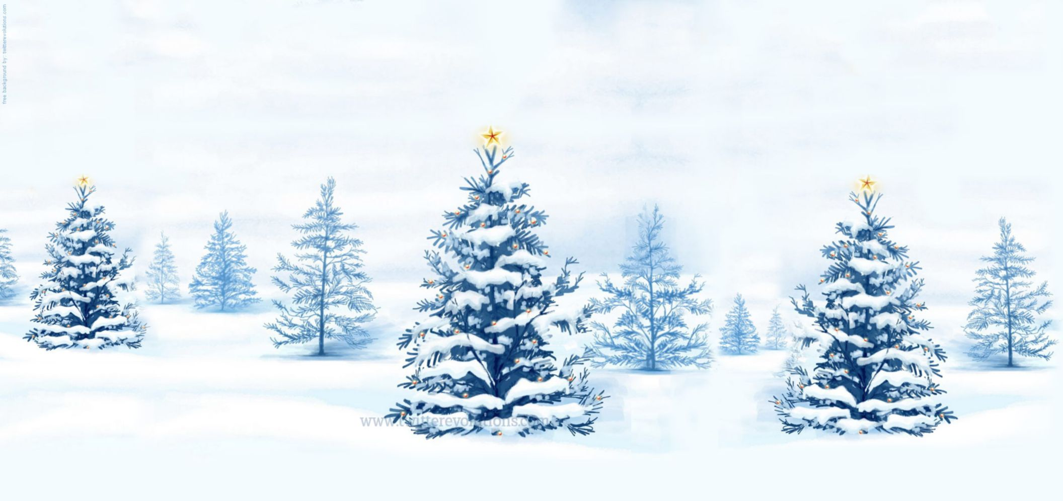 Download free HD Snowy Winter Christmas Tree Wallpaper, image