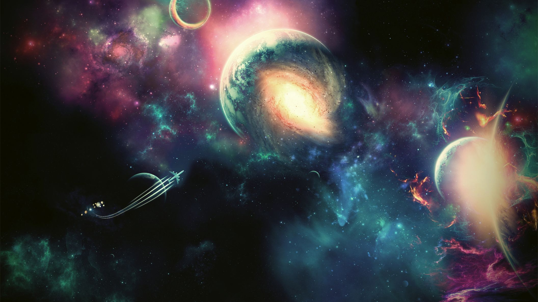 Download free HD Space Art HD 1080p Wallpaper, image