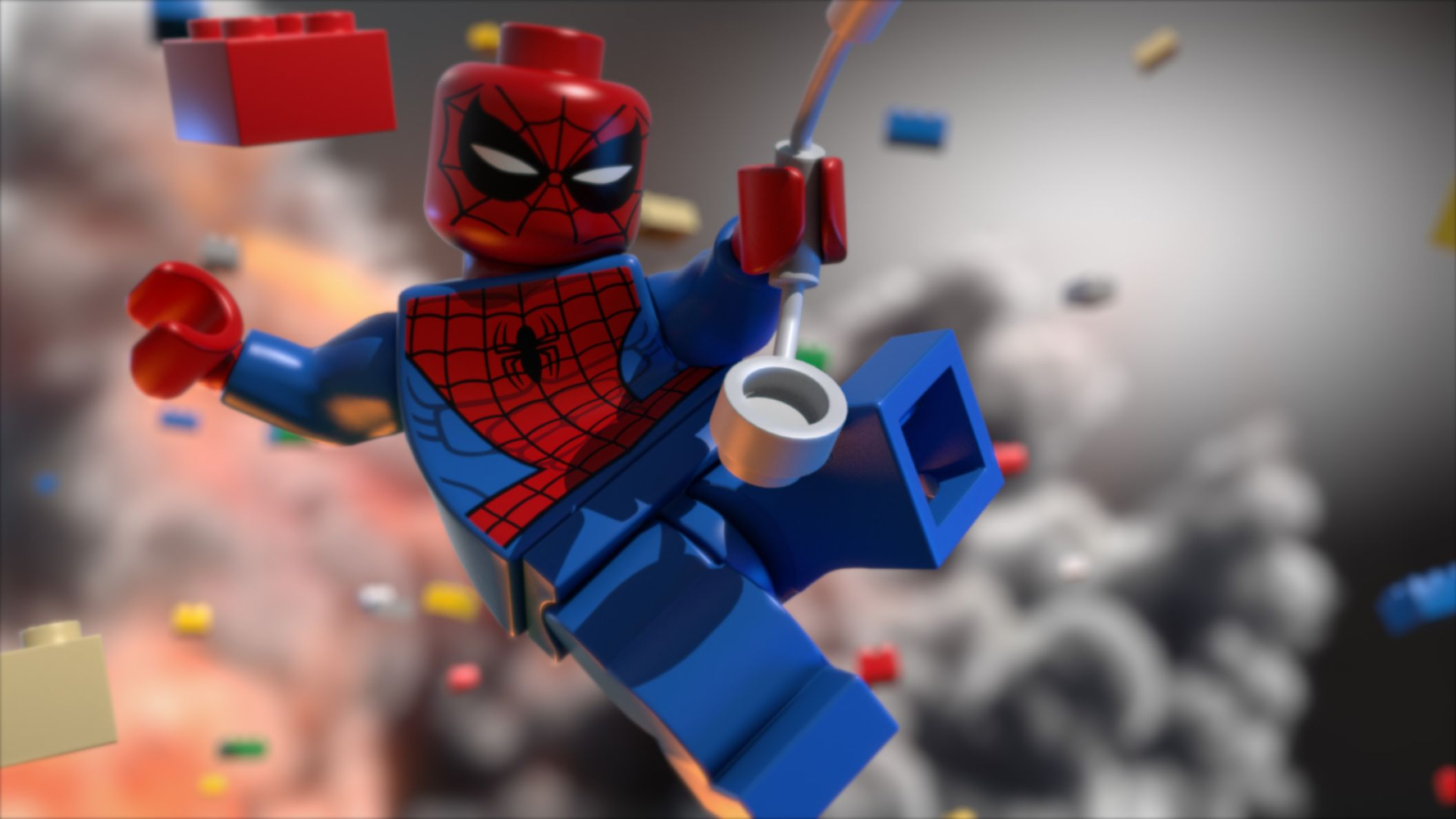 Download free HD Spiderman Lego Cartoon HD for Android Wallpaper, image