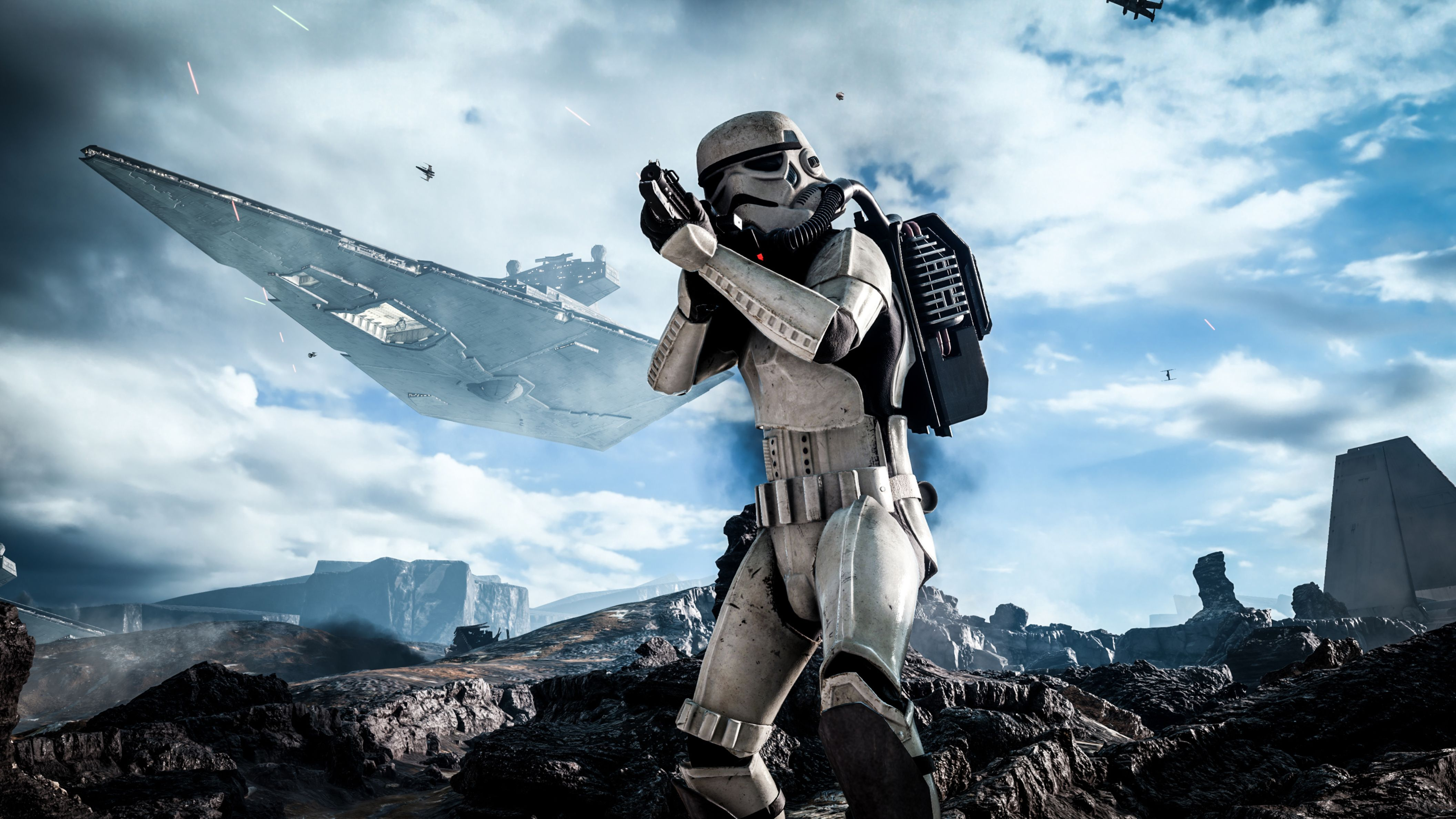 Download free HD Star Wars Battlefront Stormtrooper HD Wallpaper, image