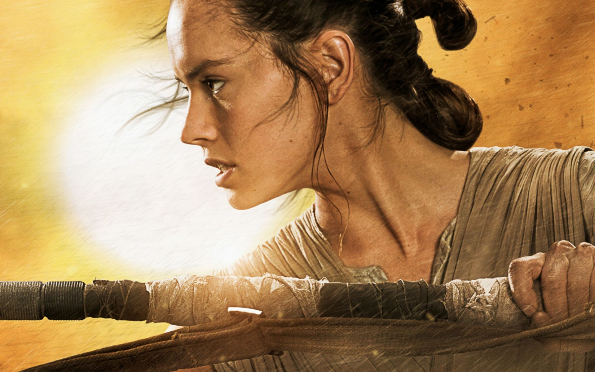 Star Wars The Force Awakens Rey Wide Wallpaper