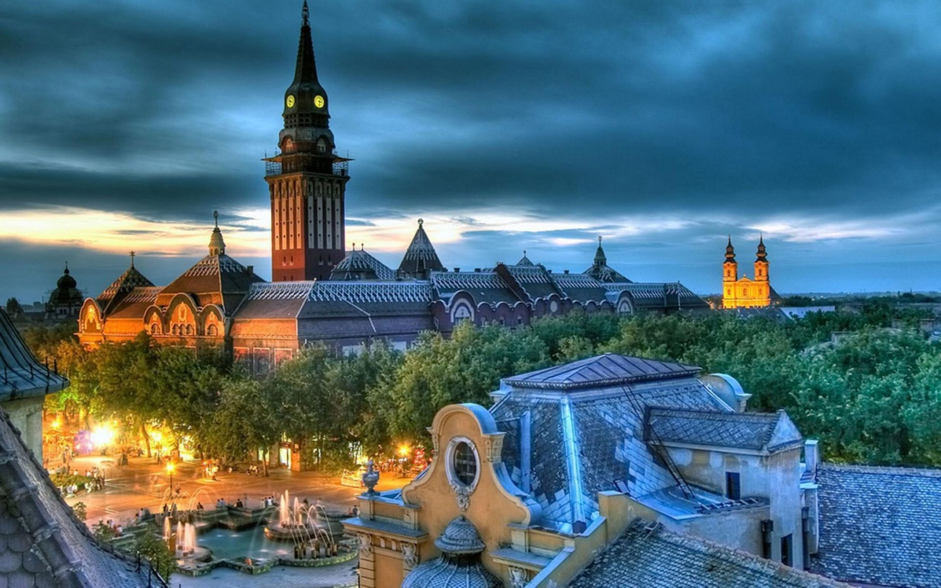 Subotica City View Serbia Wallpaper