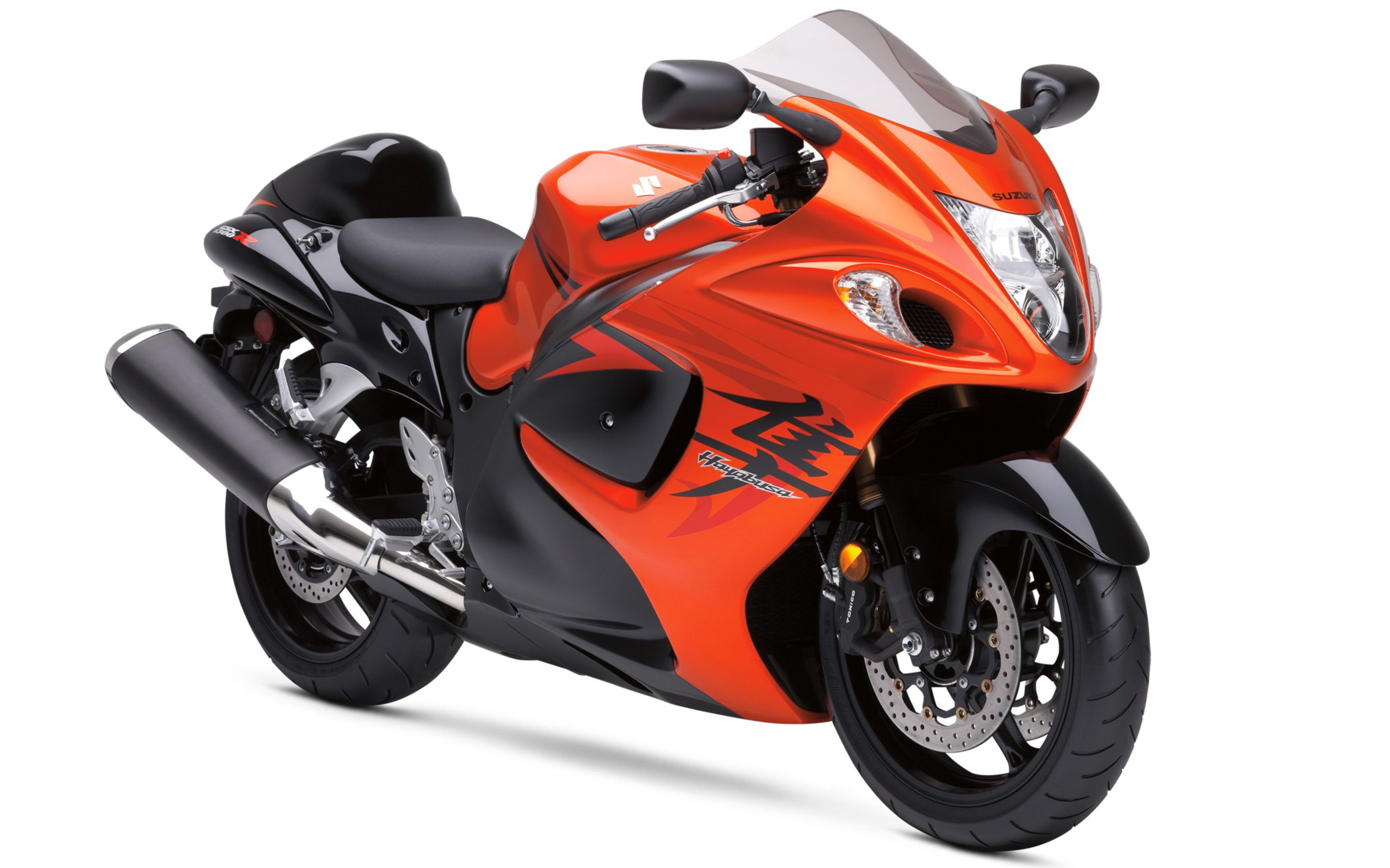 Download free HD Suzuki Hayabusa Orange Bike Wide Wallpaper, image