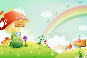 Sweet Background Cartoon  Wallpaper