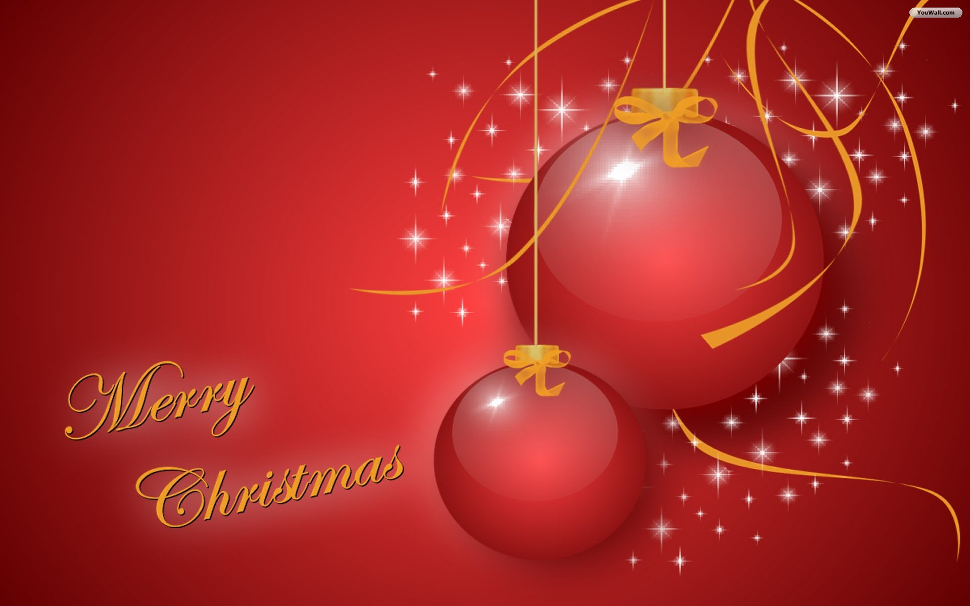 Sweet Red Merry Christmas 3D Wallpaper