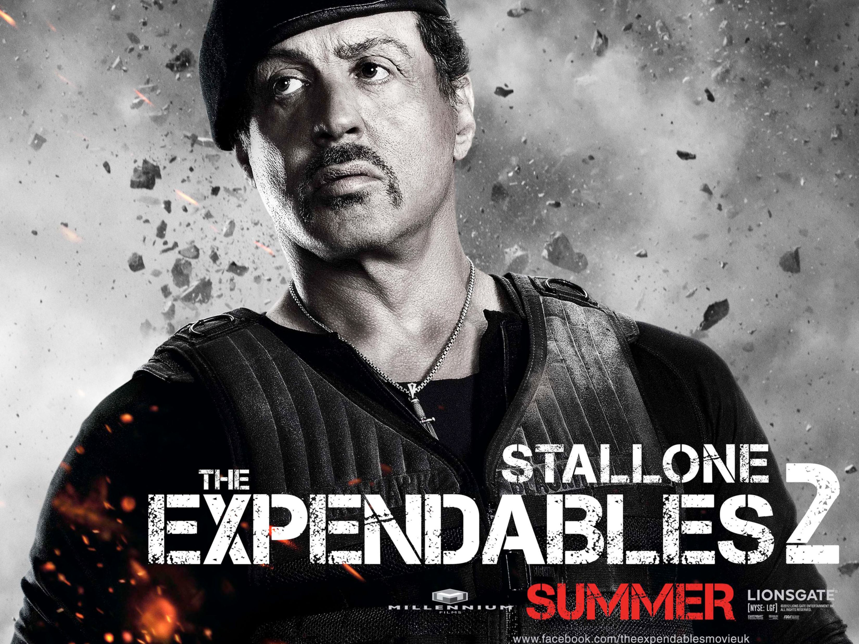 Download free HD Sylvester Stallone in Expendables 2 Normal Wallpaper, image