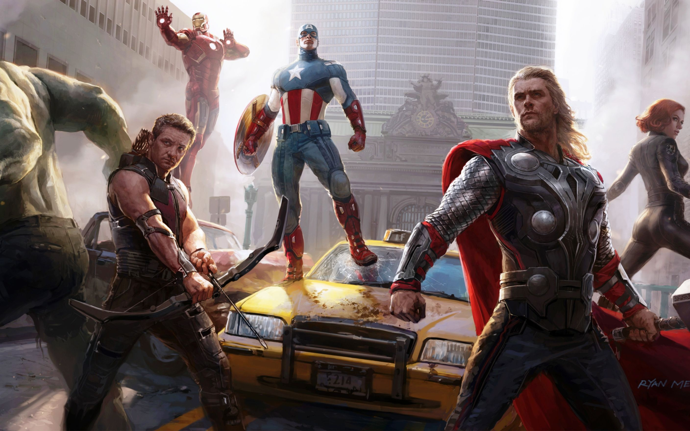 Download free HD The Avengers Concept Art Wide Wallpaper, image
