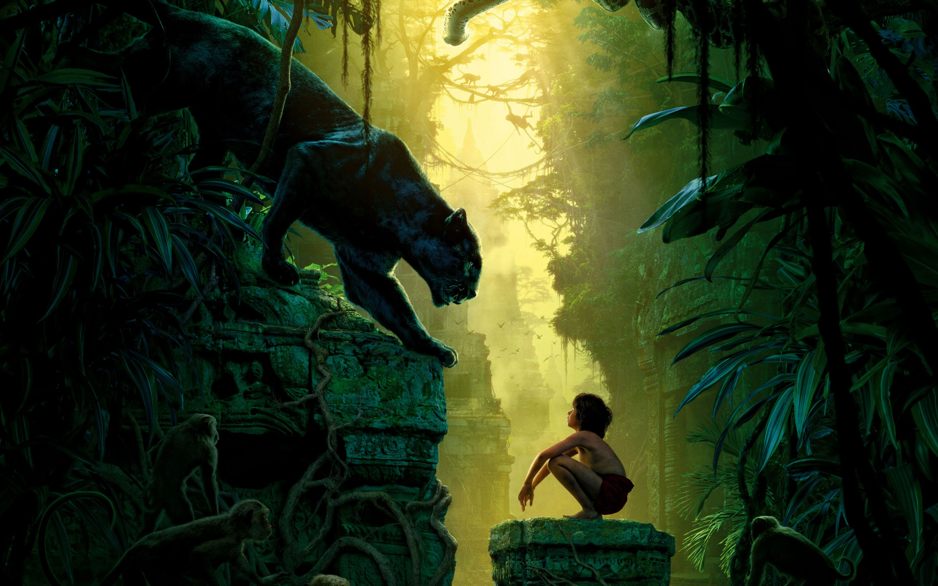 Download free HD The Jungle Book 2016 Movie Wide Wallpaper, image
