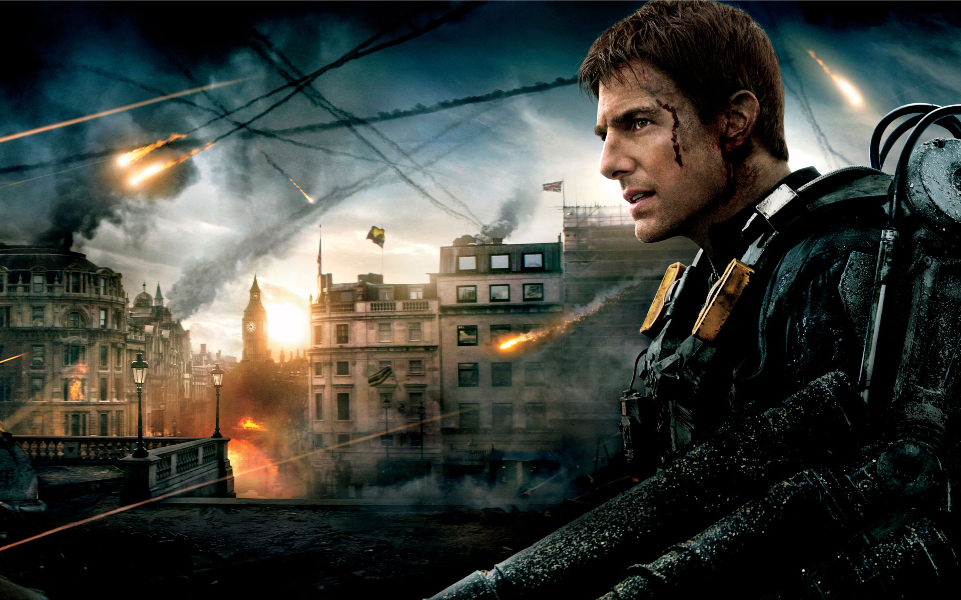 Download free HD Tom Cruise in Edge of Tomorrow Wide Wallpaper, image