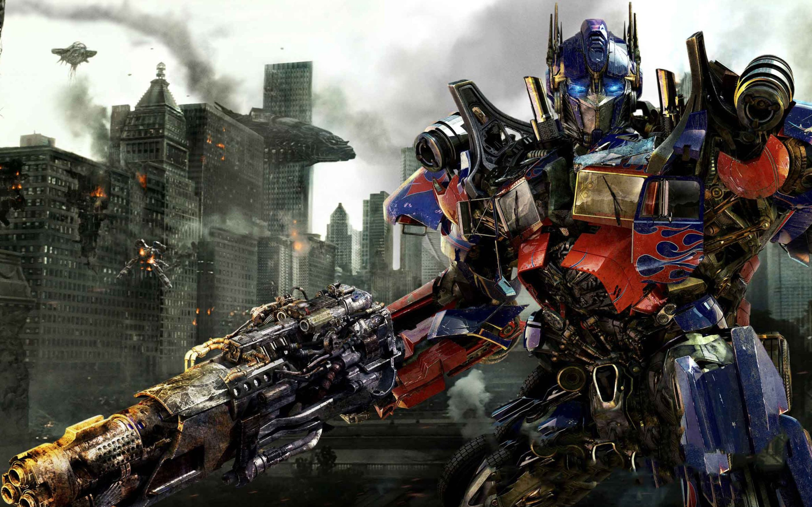 Download free HD Transformers 3 Optimus Prime Wide Wallpaper, image
