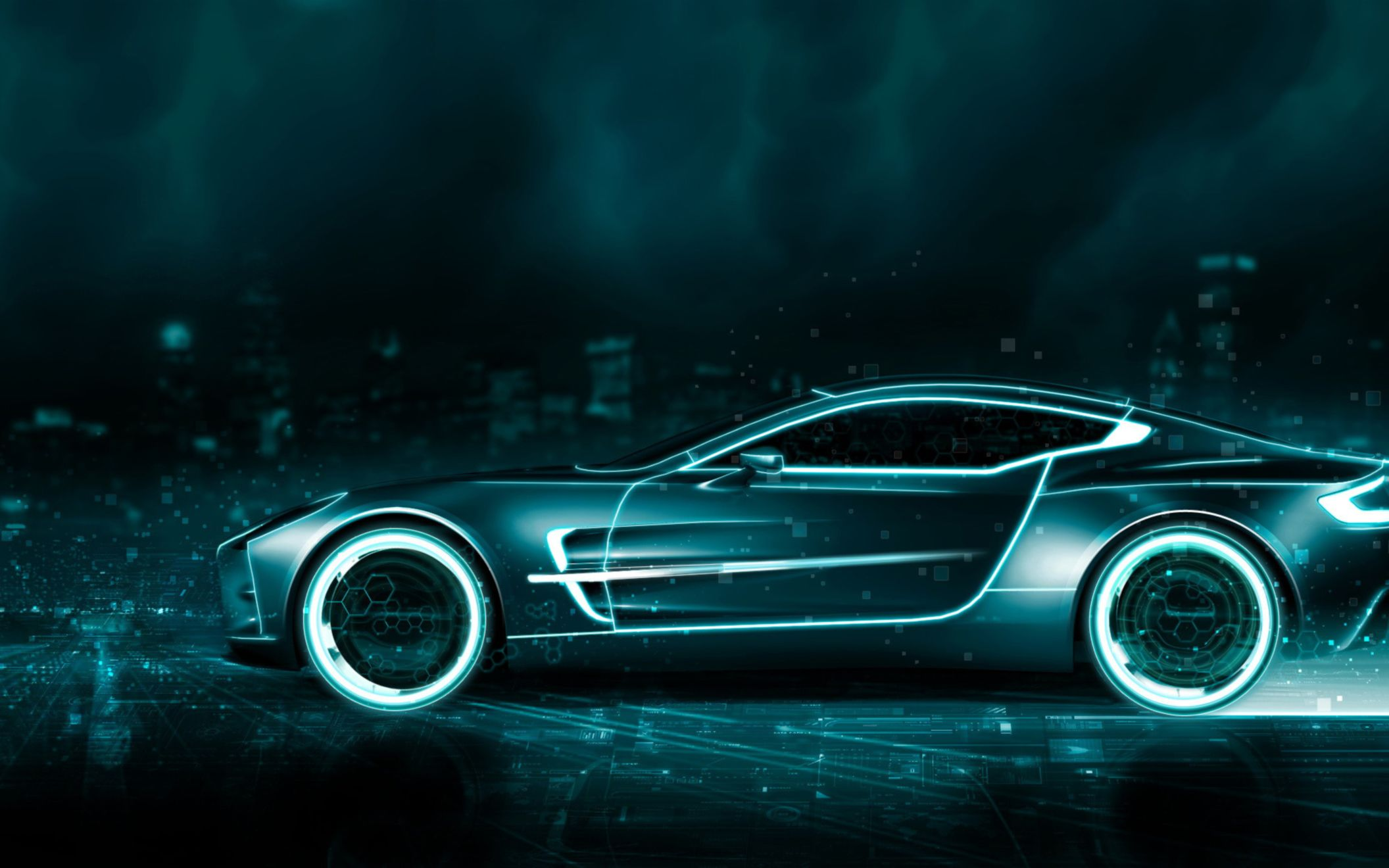 Download free HD Tron Aston Martin Wide Wallpaper, image