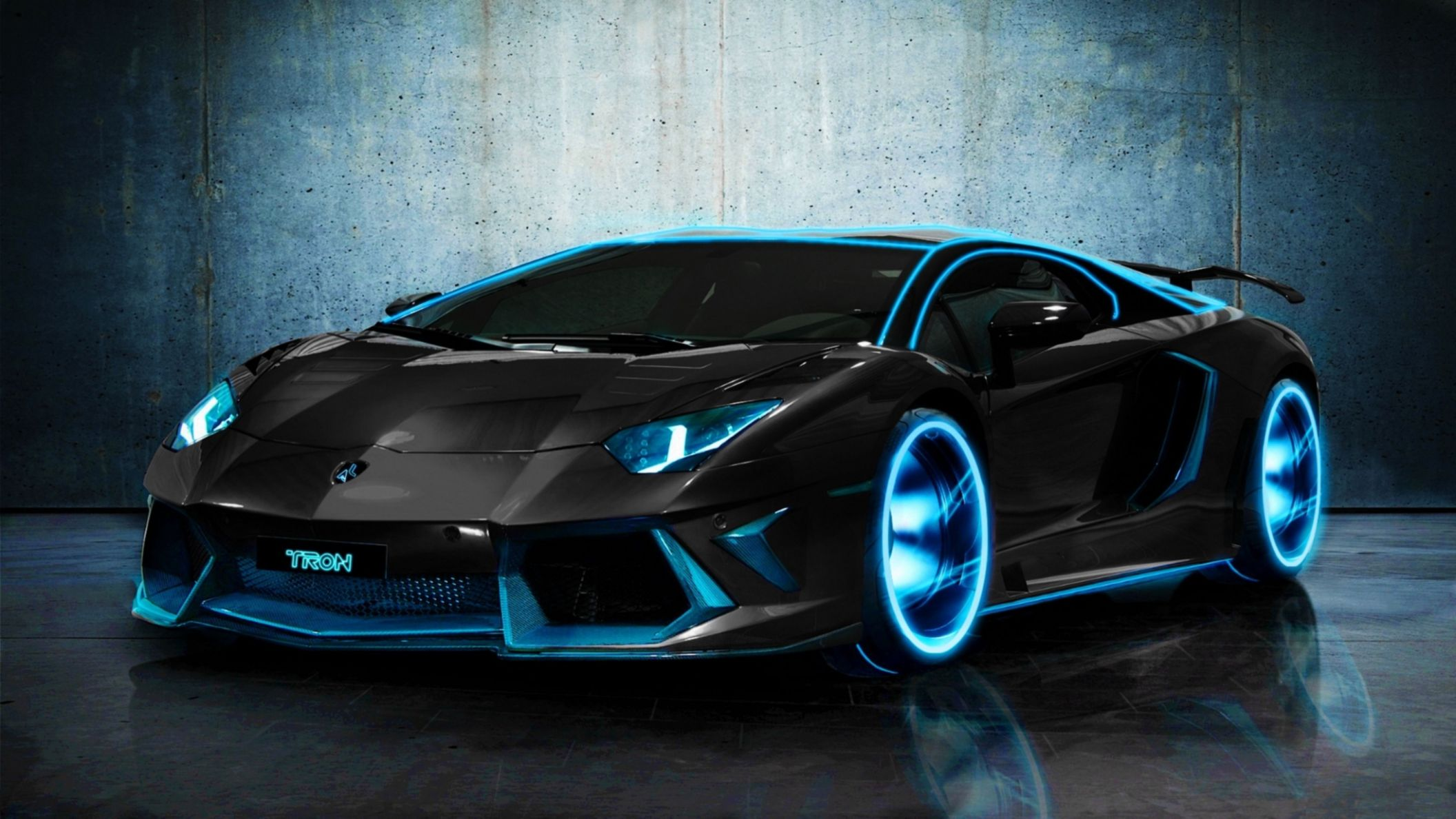 Download free HD Tron Lamborghini Aventador HD Wallpaper, image